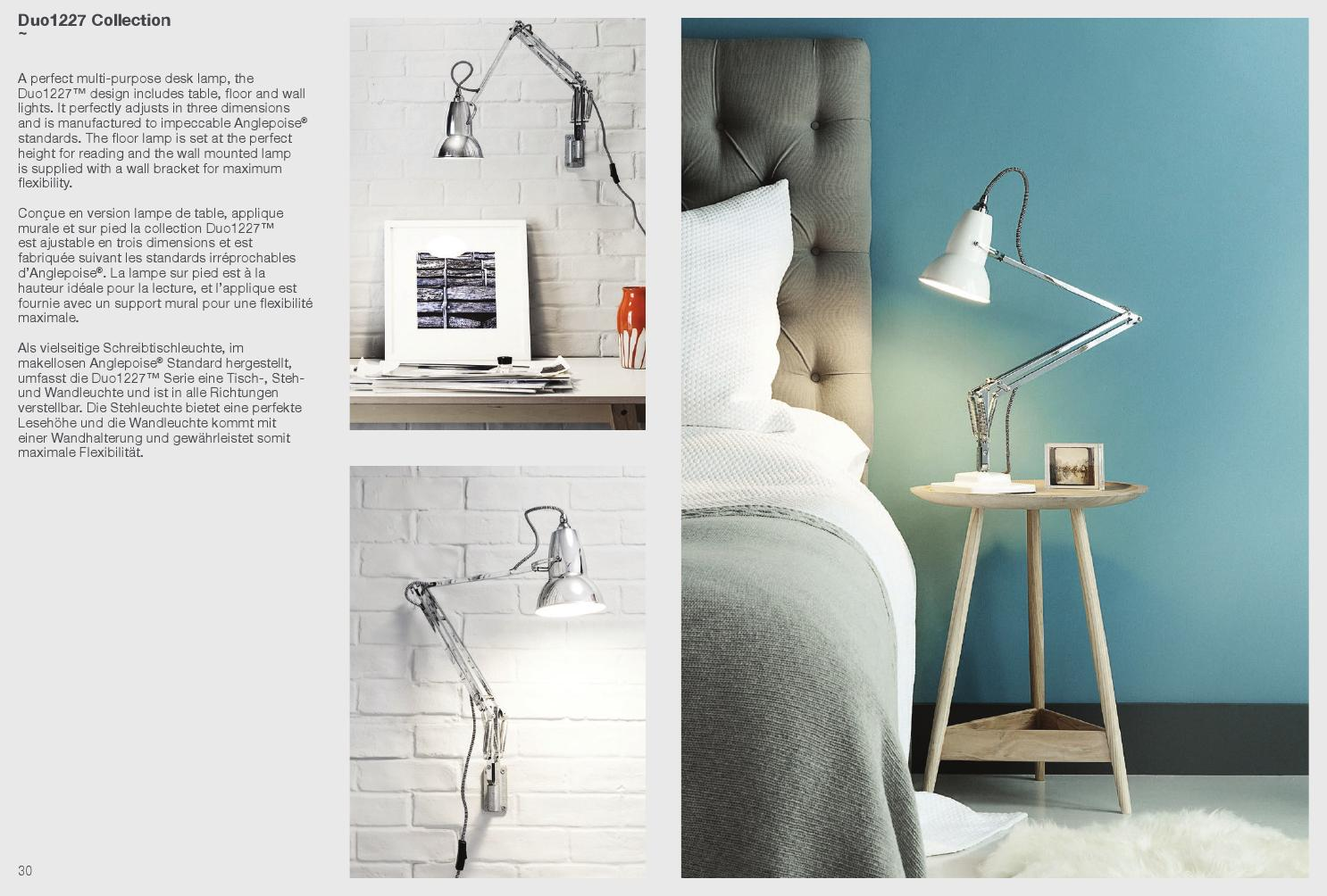 Board Wandhalterung Anglepoise 2014 Brochure By Lampard Issuu