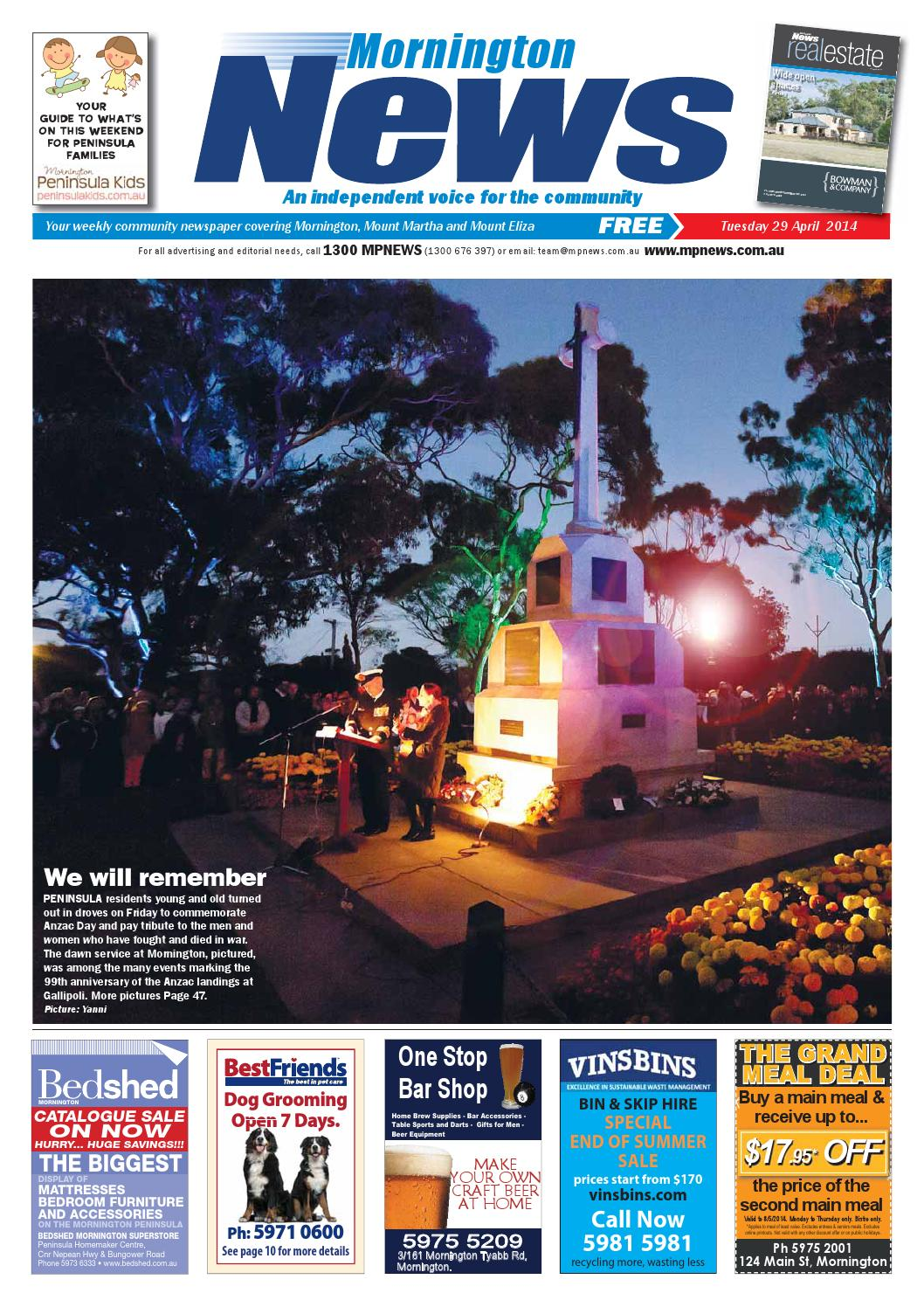 Bedshed Melbourne 29th April 2014 By Mornington Peninsula News Group Issuu