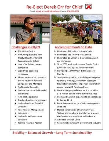 2014 Election Brochure by Chief Derek Orr - issuu
