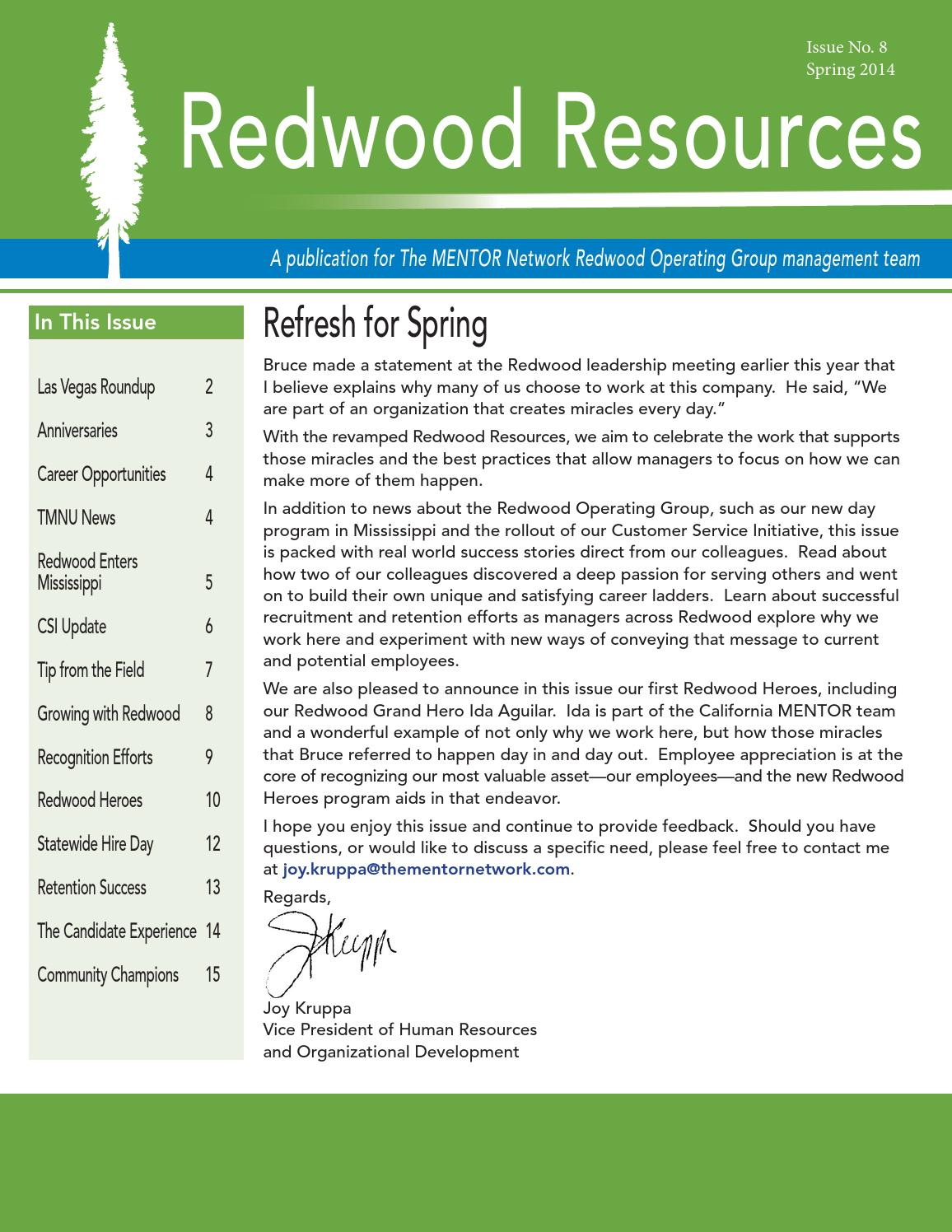 8 spring 2014 by the mentor network issuu