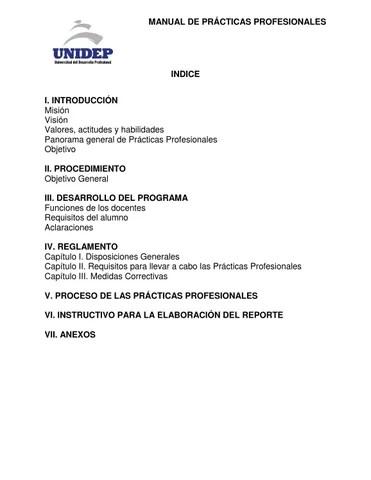 Manual de Prácticas Profesionales by Universidad del Desarrollo