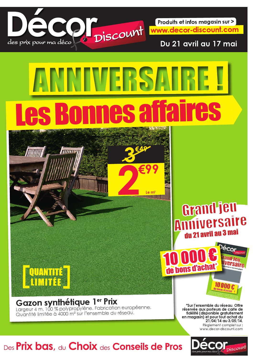 Deko Discount 24 Prospectus Anniversaire By Décor Discount Issuu