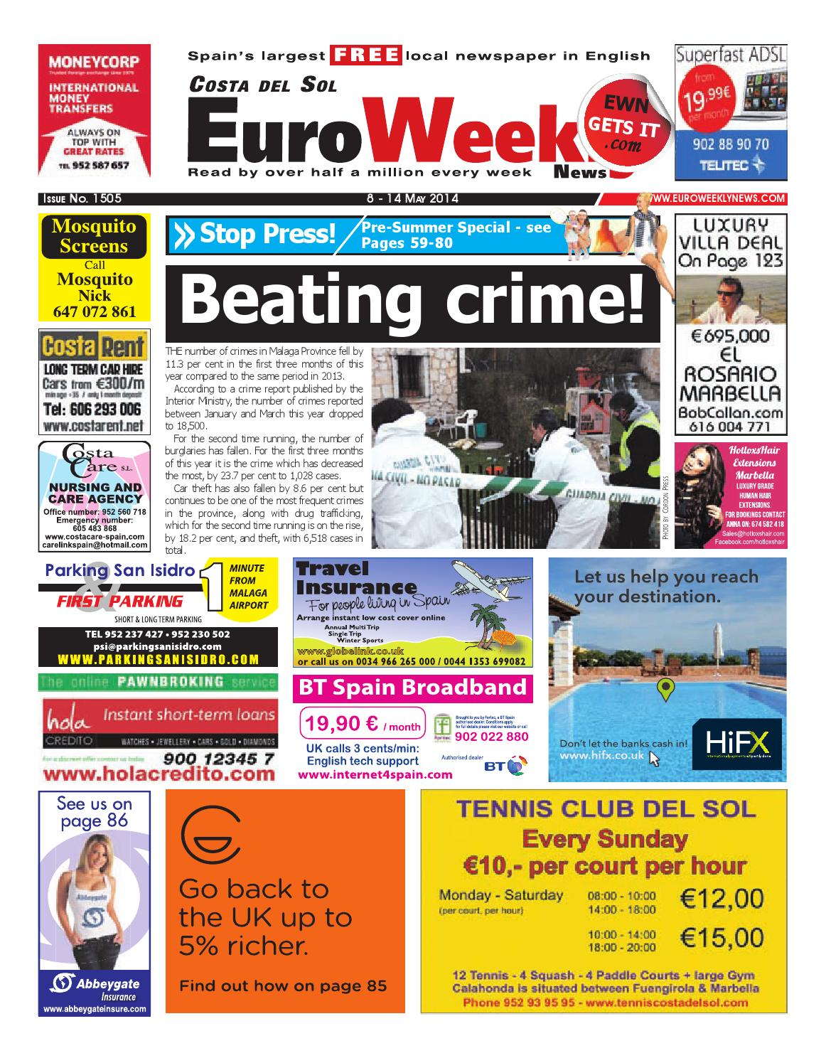 Redondela Pintor Euro Weekly News Costa Del Sol 8 14 May 2014 Issue 1505