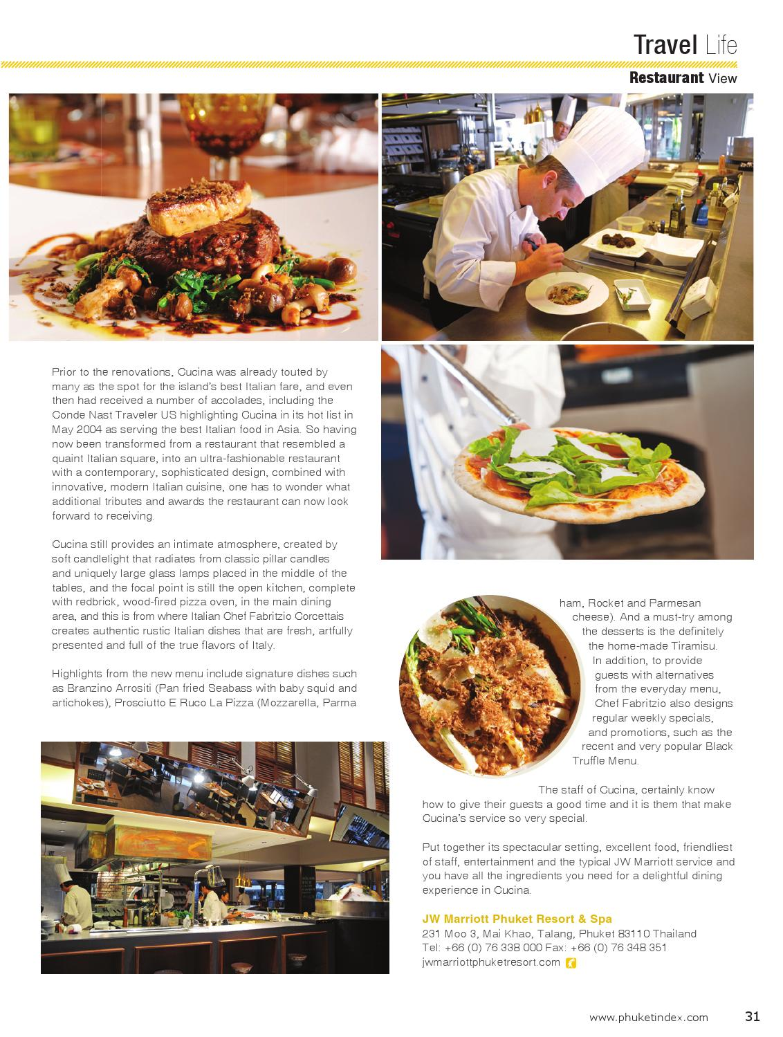 Jw Marriott Phuket Cucina Restaurant Phuketindex Vol 24 By Guide Vision Limited Issuu