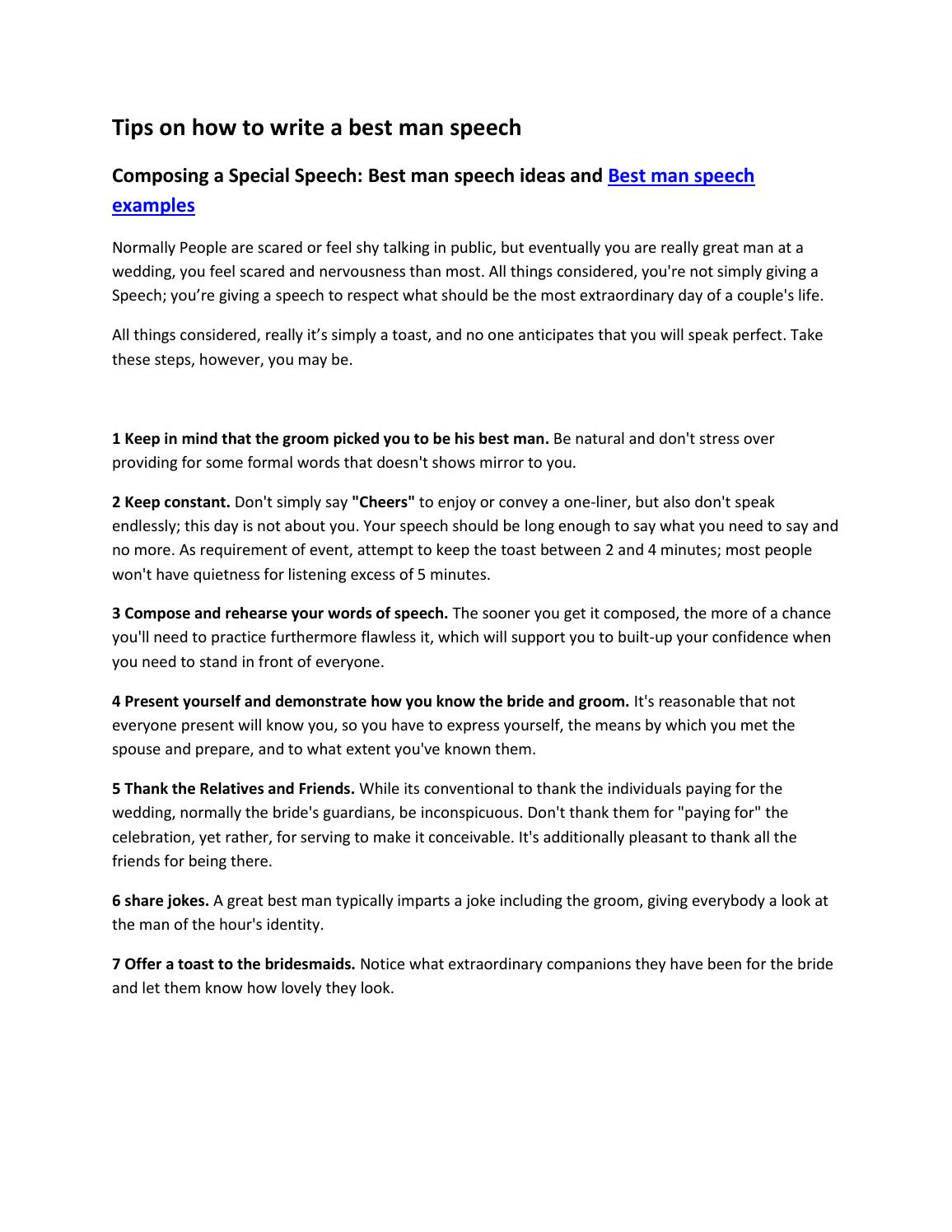 Gracious Ny Marriage Quotes Speeches By Davide Urman Issuu Man Speech Examples Bror Short Man Speech Examples Bror inspiration Best Man Speech Examples