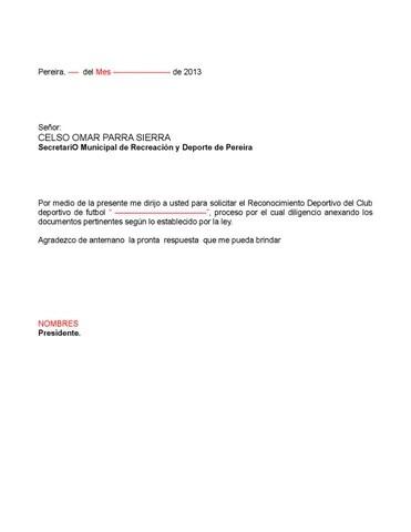 9 paso carta de solicitud de reconocimiento deportivo by Secretaría