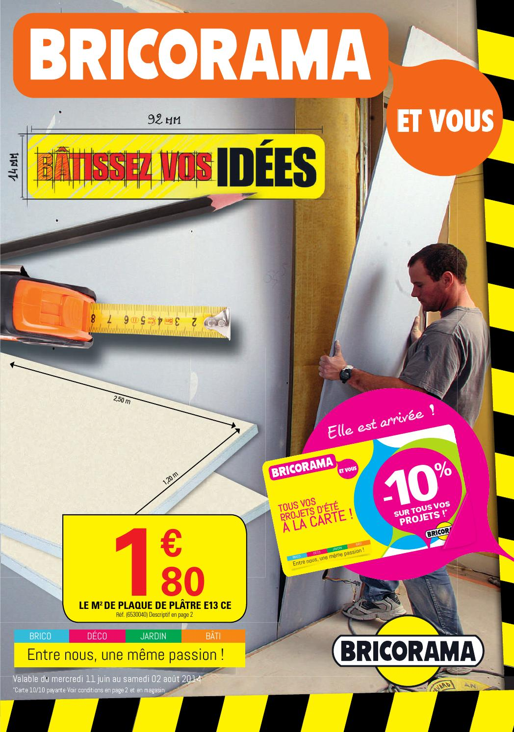 Dalle Exterieur Bricorama Bricorama Catalogue 11juin 2aout2014 By Promocatalogues Issuu
