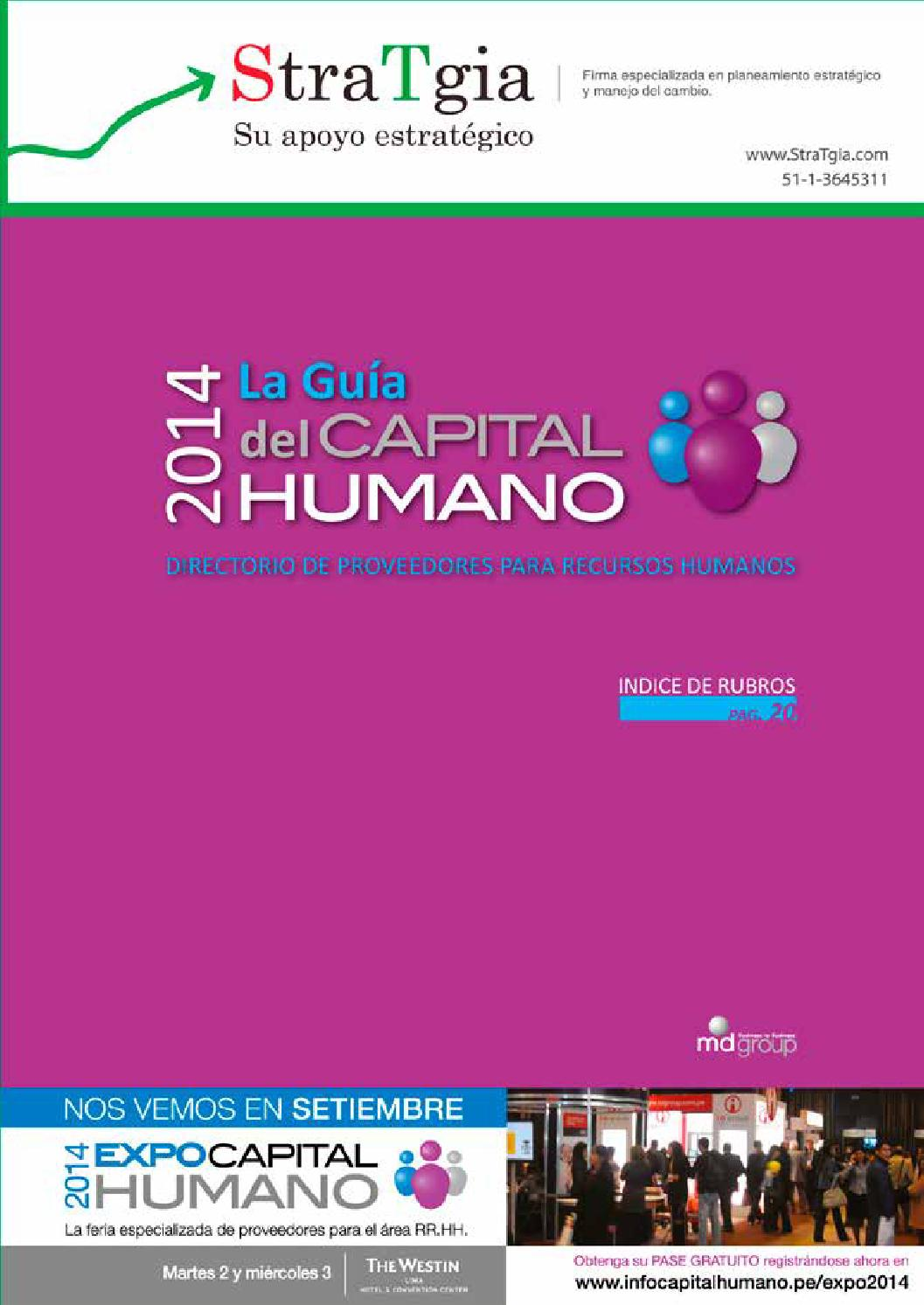 El Capital Libro Guia De Capital Humano 2014 By Moises Chavez Issuu