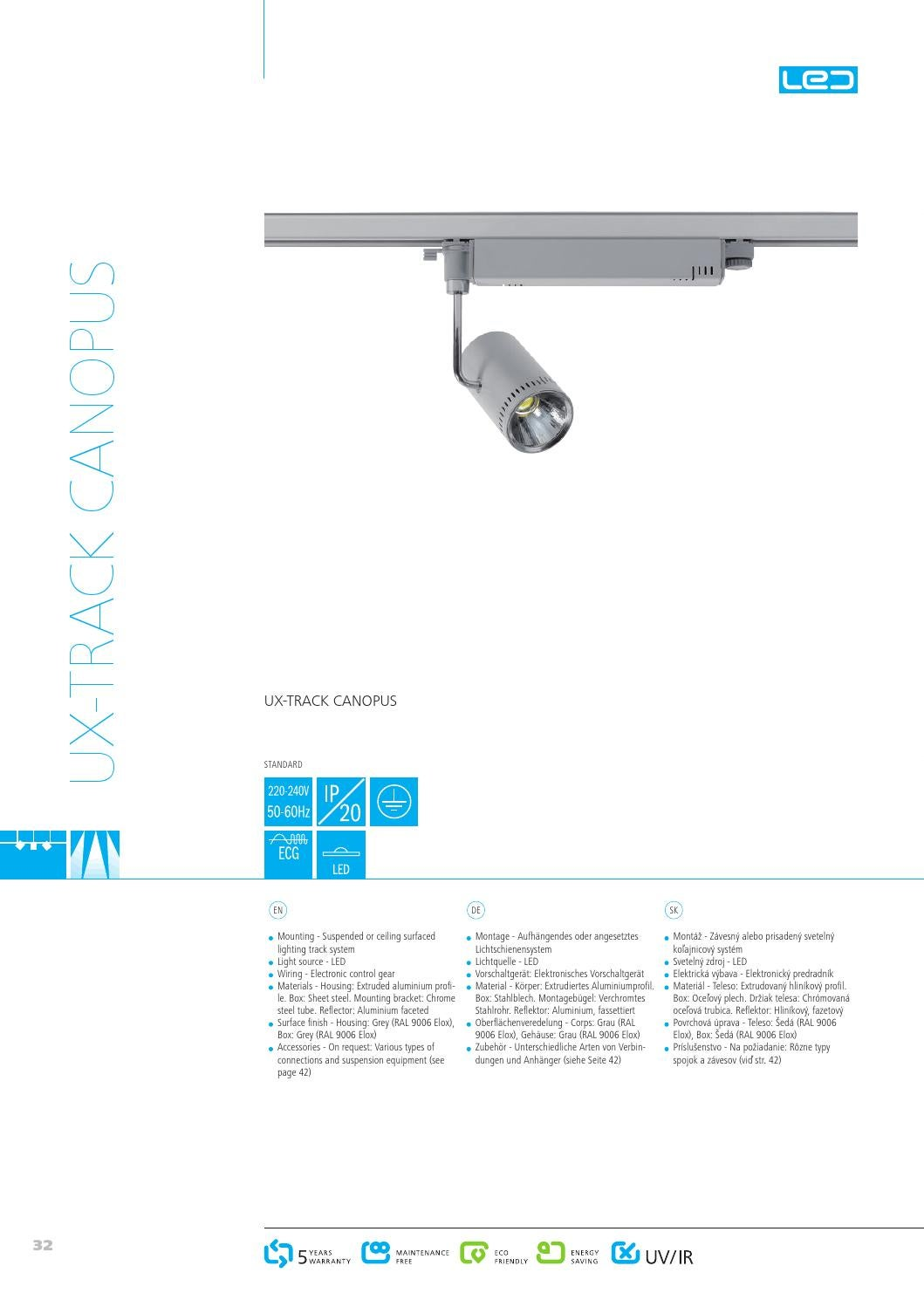 Lichtschienensystem Oms Unolux Catalog 2013 By Technomouse Media Issuu
