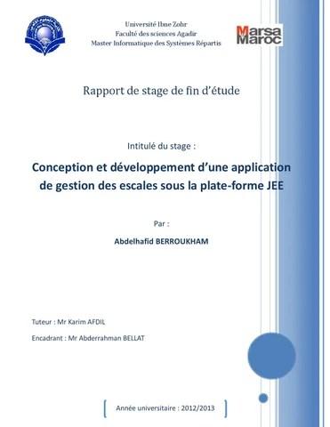 Rapport de stage Conception et développement d\u0027une application en