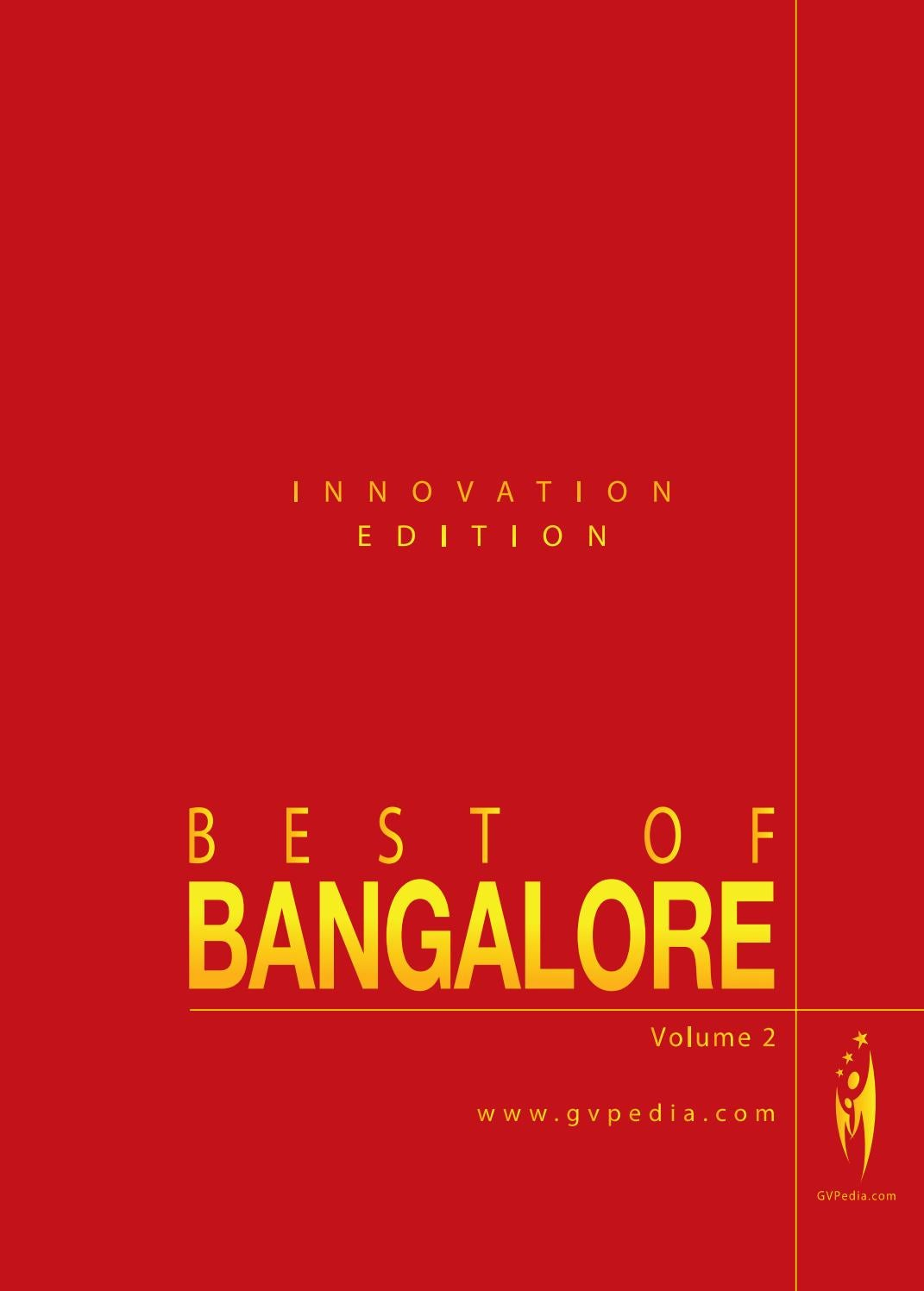 Voda.it/cucina Italiana Best Of Bangalore Innovation Edition