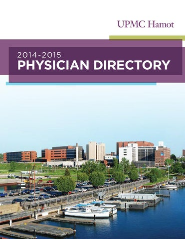 UPMC Hamot Physician Directory 2014-2015 by tungsten creative group