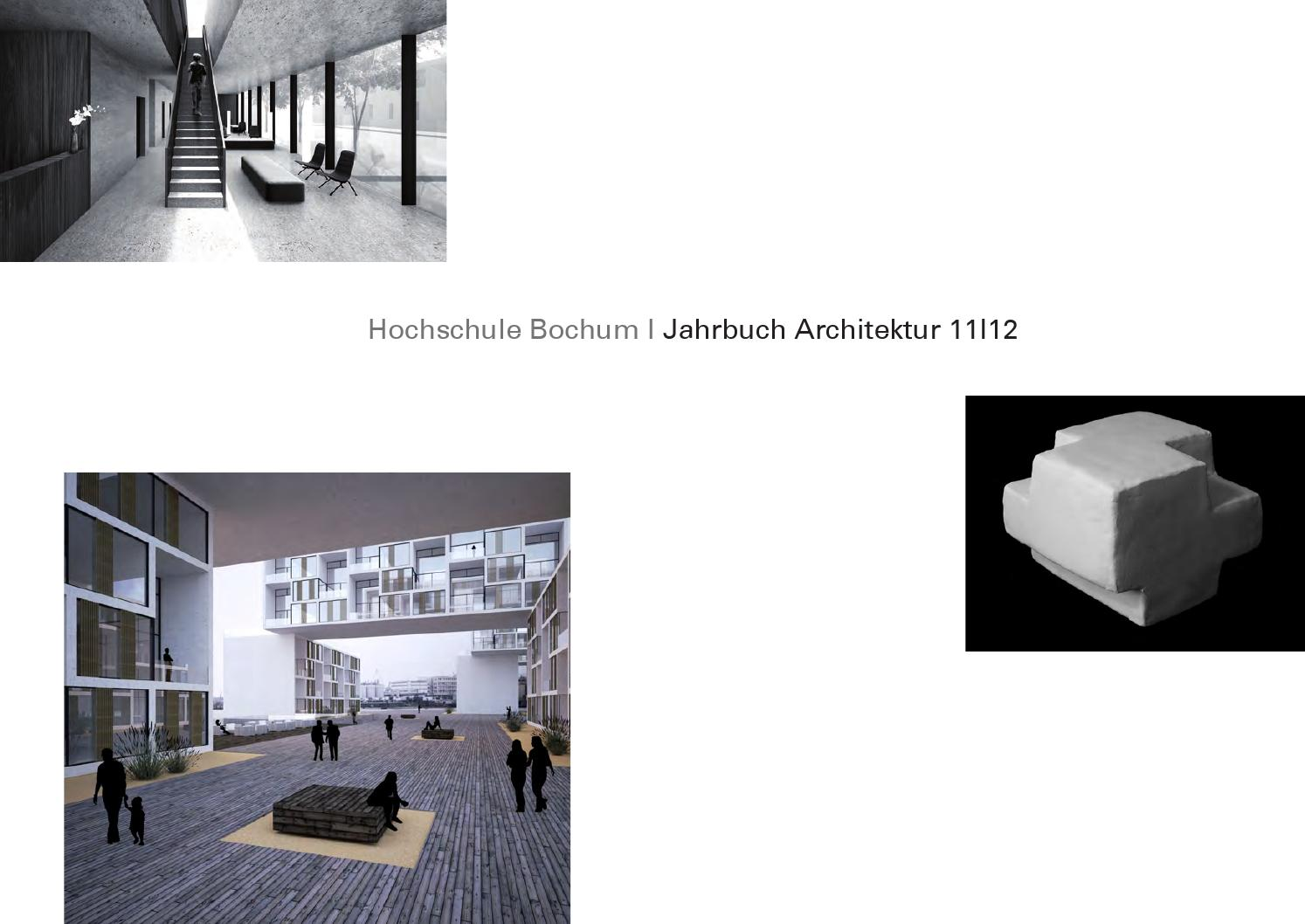 Bochum Architektur Jahrbuch Architektur Hs Bochum 2012 By Harald Gatermann Issuu