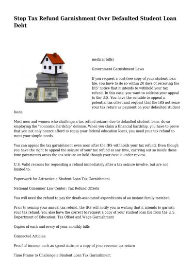 Stop Tax Refund Garnishment Over Defaulted Student Loan Debt by pleasantbarrel567 - Issuu