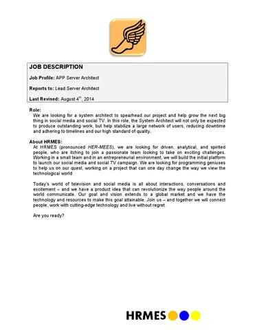 App server architect job description v080414 2 by Alex Qi - issuu