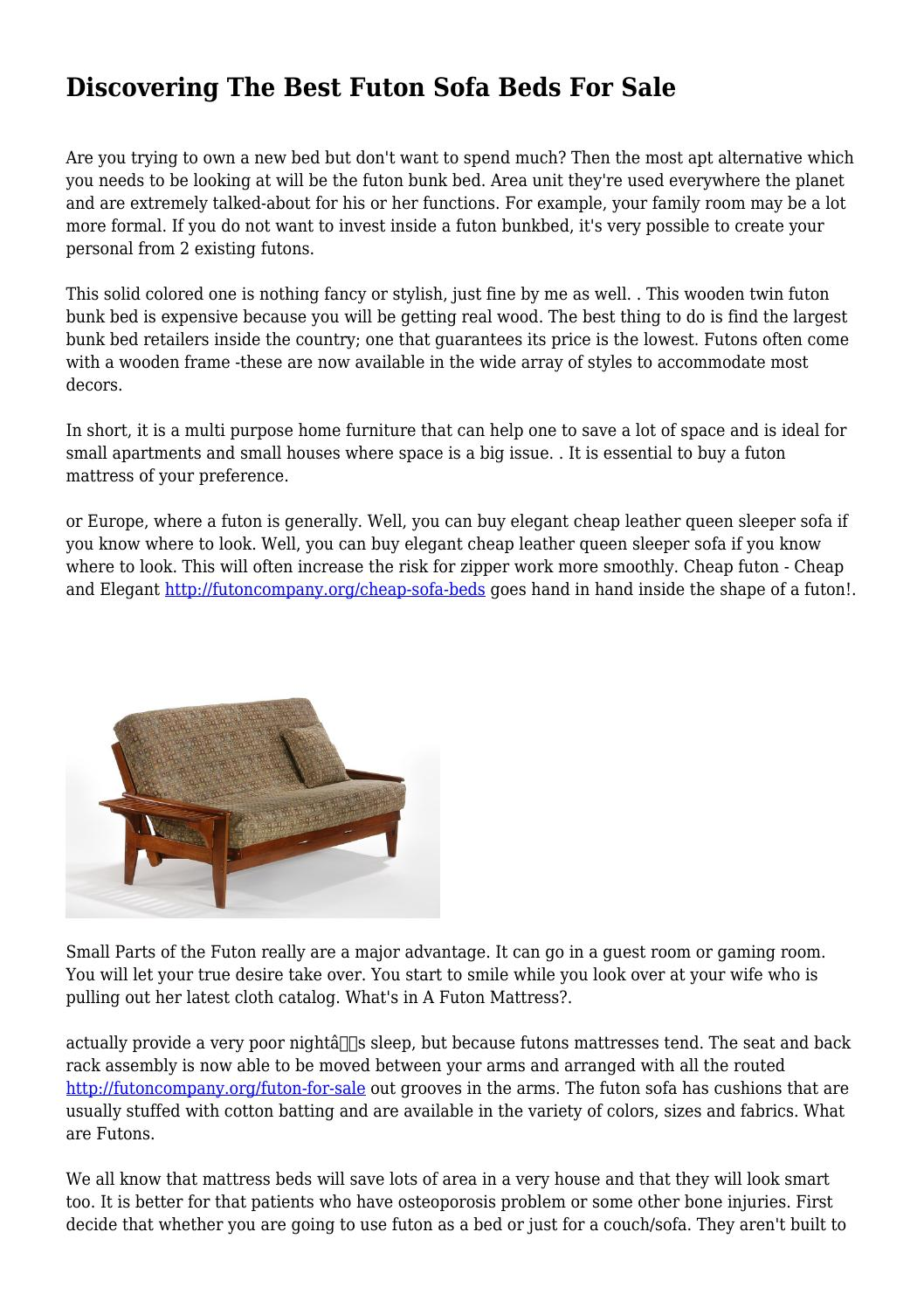 Best Places To Buy A Futon Discovering The Best Futon Sofa Beds For Sale By Ickynurse9020 Issuu