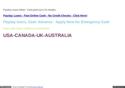 Get Payday Loans : Payday Loans No Lenders : Payday Loans Cash TAGk by repabose - Issuu