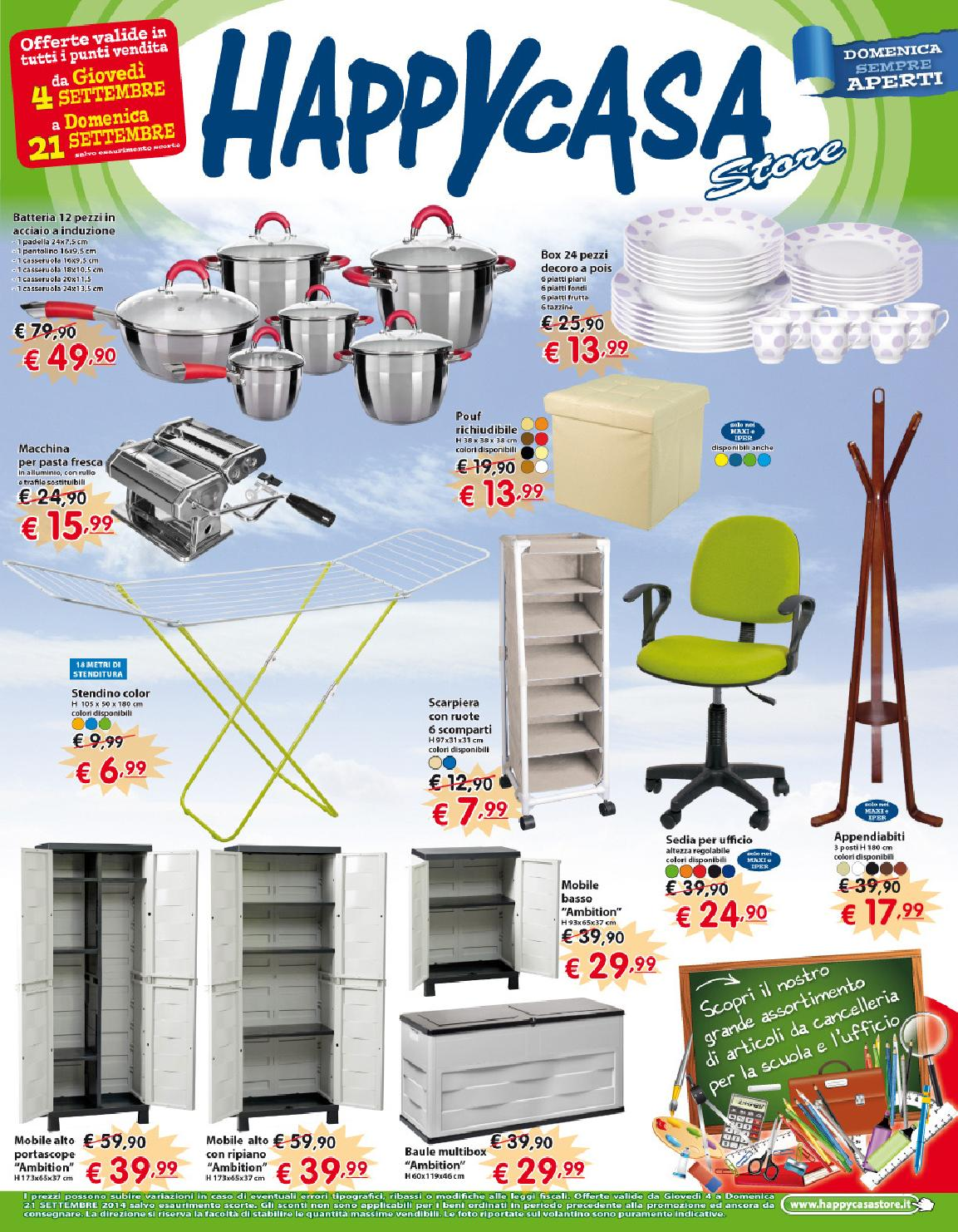 Padelle Happy Casa Volantino Happycasa Settembre 2014 By Goodstaff Adv Issuu