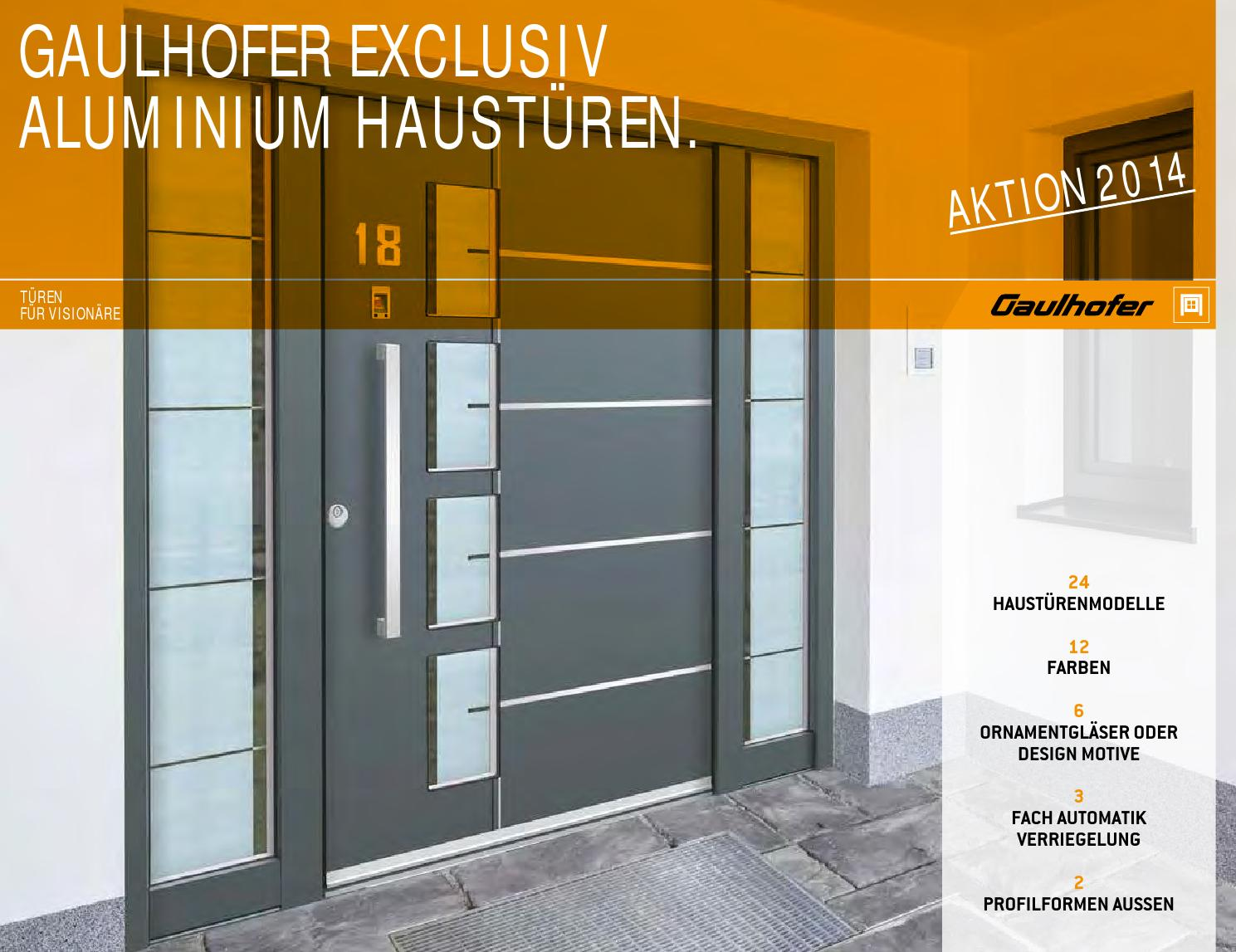 Aluminium Haustüren Fingerscan Alu Ht Gaulhofer Aktion2014 By Sascha Weyers Issuu