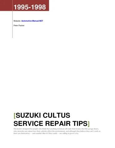 Suzuki Cultus 1995-1998 Service Repair Tips by Armando Oliver - issuu