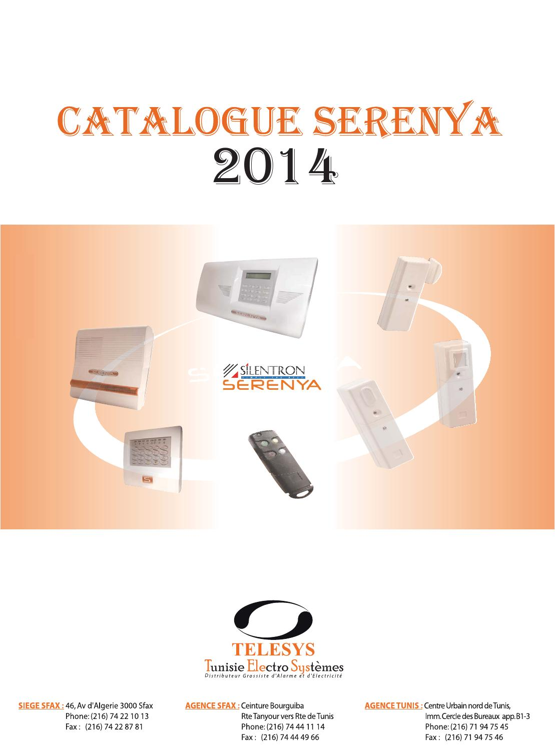 Detecteur De Mouvement Exterieur Tunisie Catalogue Serenya 2014 By Telesys Alarme Eclairage Issuu