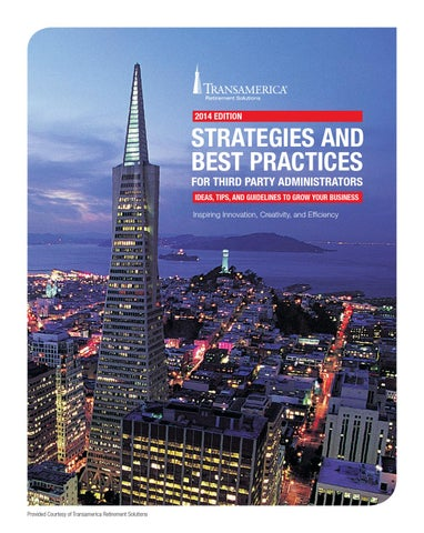 Transamerica 2014 edition strategies and best practices guide for - transamerica retirement solutions