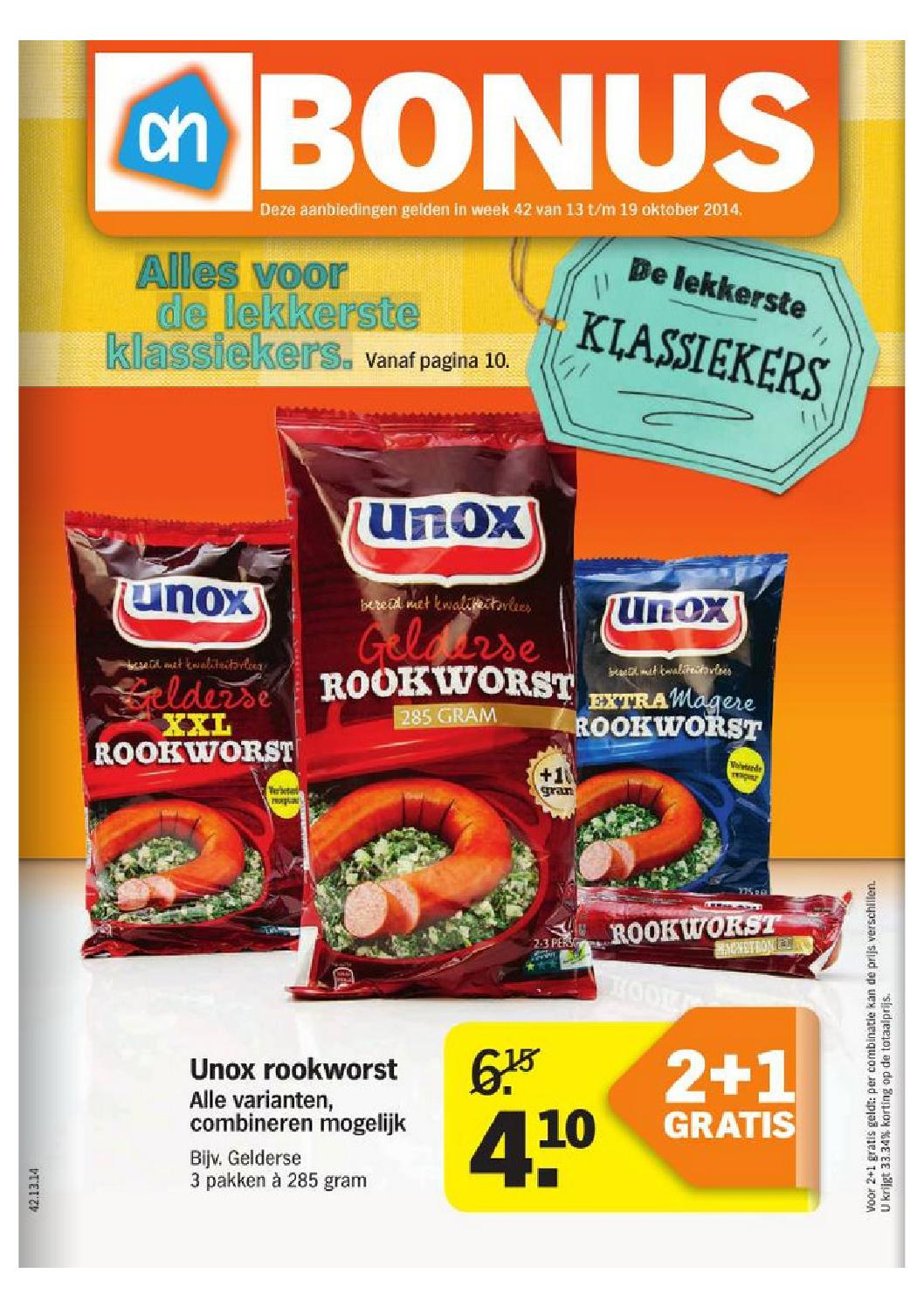 Ah Aanbiedingen Folder Albert Heijn Folder Week 42 By Online Folders Issuu