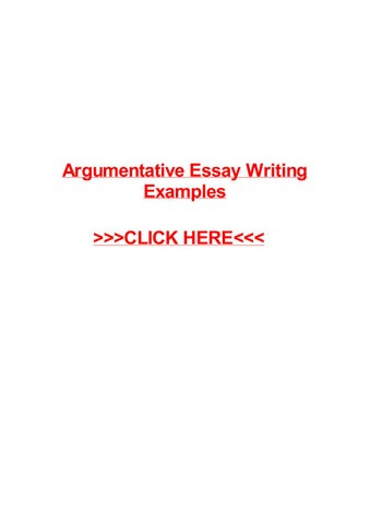 Argumentative essay writing examples by May Pilon - issuu
