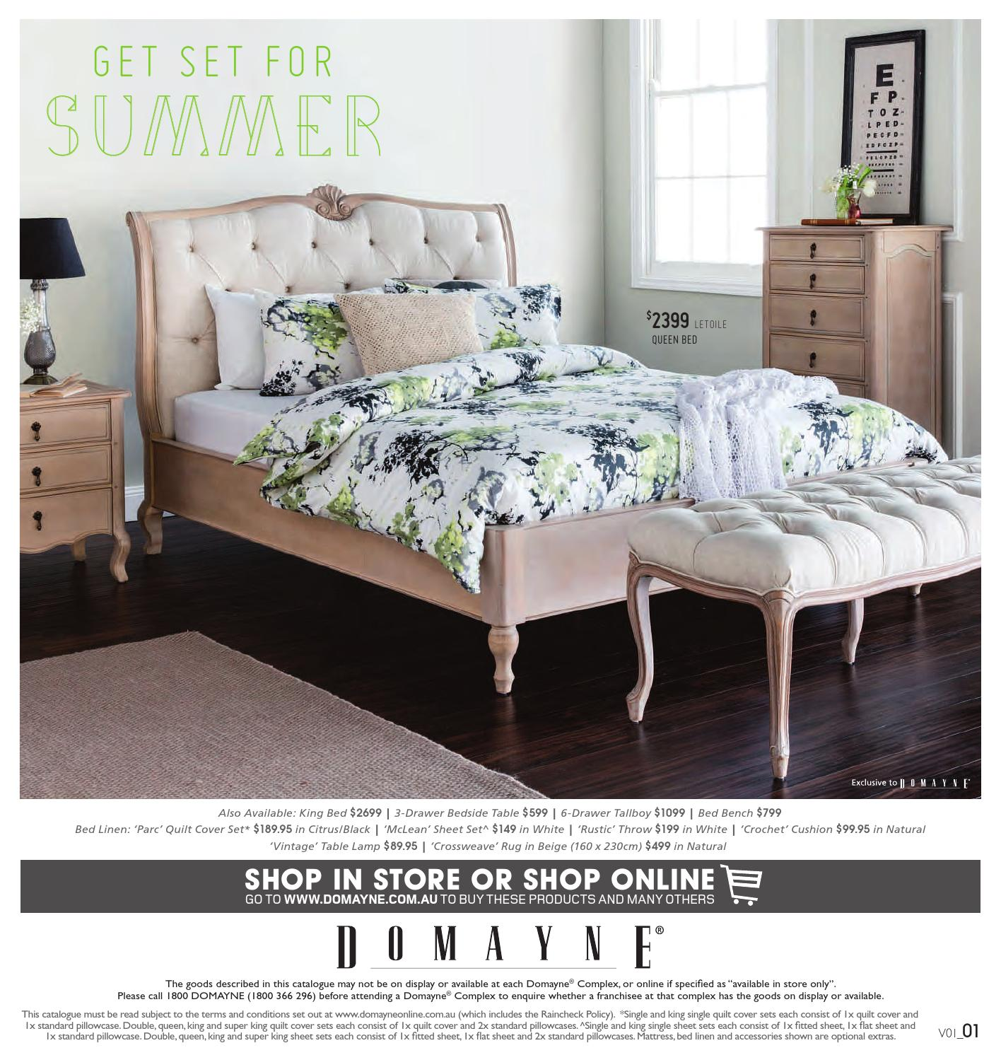 Domayne Beds Catalogue Get Set For Summer By Domayne Issuu