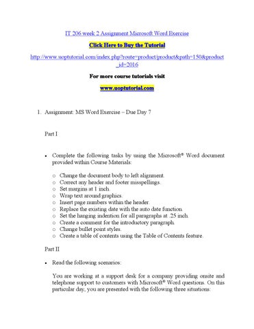It 206 week 2 assignment microsoft word exercise by brazilian8 - issuu