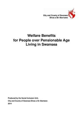 Welfare benefits for people over pensionable age living in Swansea - attendance allowance form