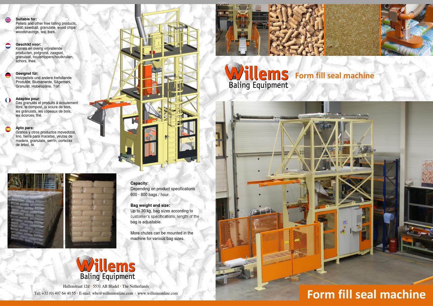 Big Bag Houtsnippers Wbe Form Fill Seal Machine By Willems Baling Equipment Issuu