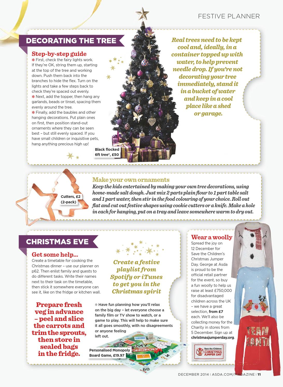How To Make Your Own Tree Stand Asda Magazine December 2014