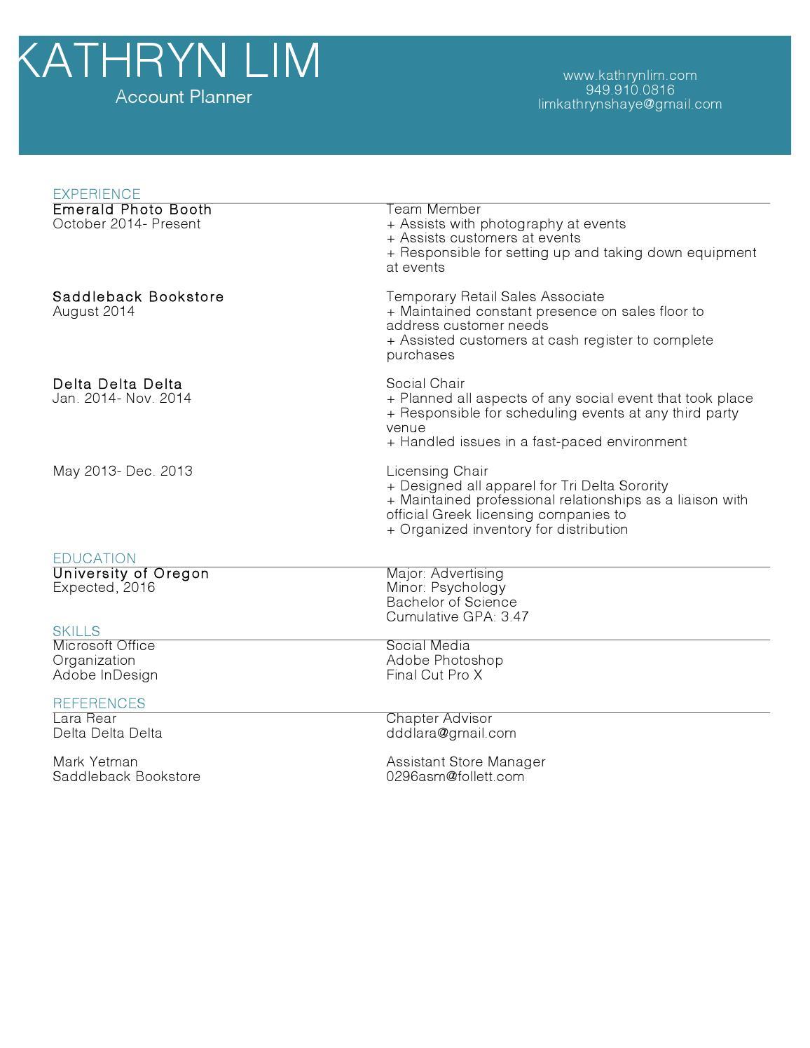 resume major gpa or cumulative