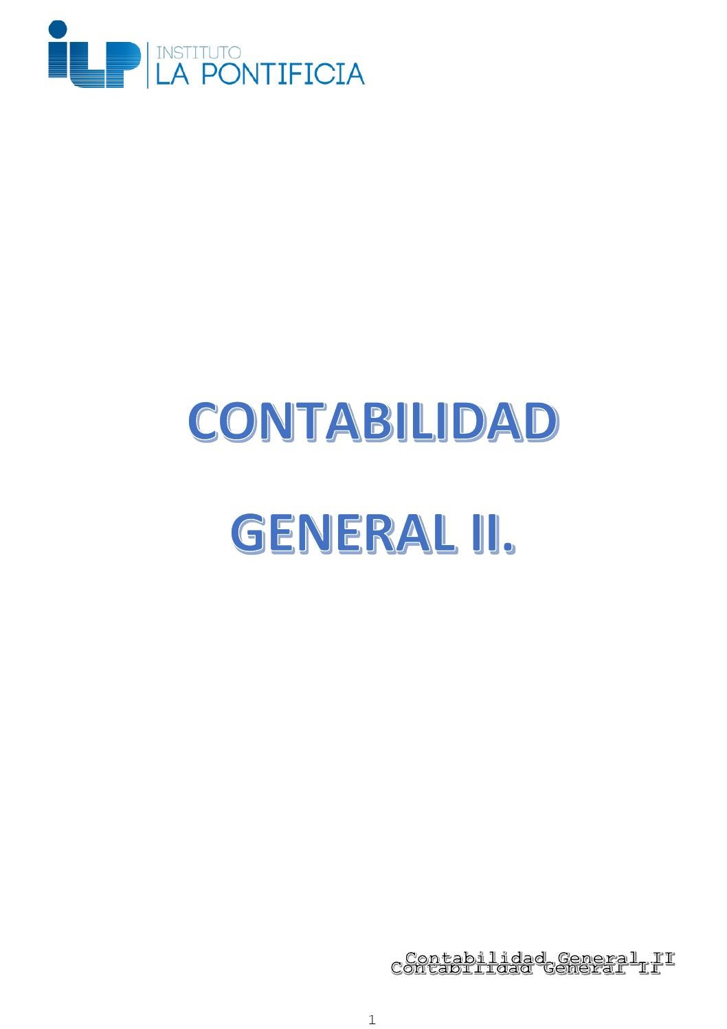 Libro De Cuentas Contables Contabilidad General Ii By Josue Medina Issuu