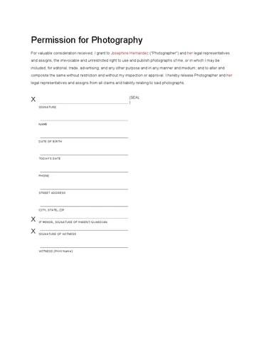 Pocket Model Release Form by king10 - issuu - model release form in pdf