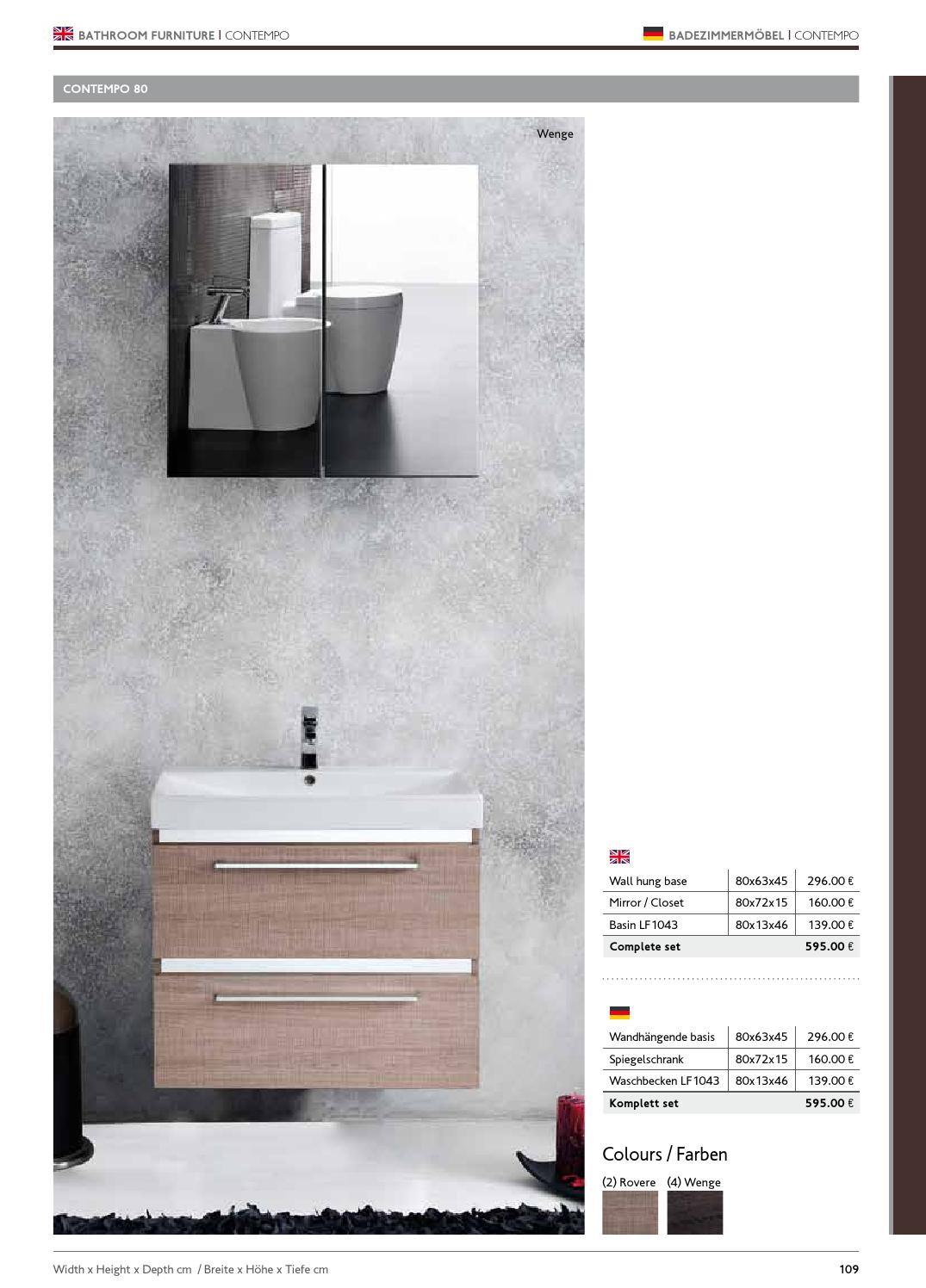 Badezimmerschrank 40 Cm Tief Bathroom Decoration Karagbath En Ger 2014 By Karaggr Karaggr Issuu