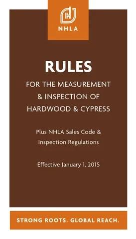 NHLA Rules Book 2015 by National Hardwood Lumber Association - issuu