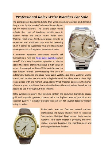 Professional rolex wrist watches for sale by antiquewatch - issuu