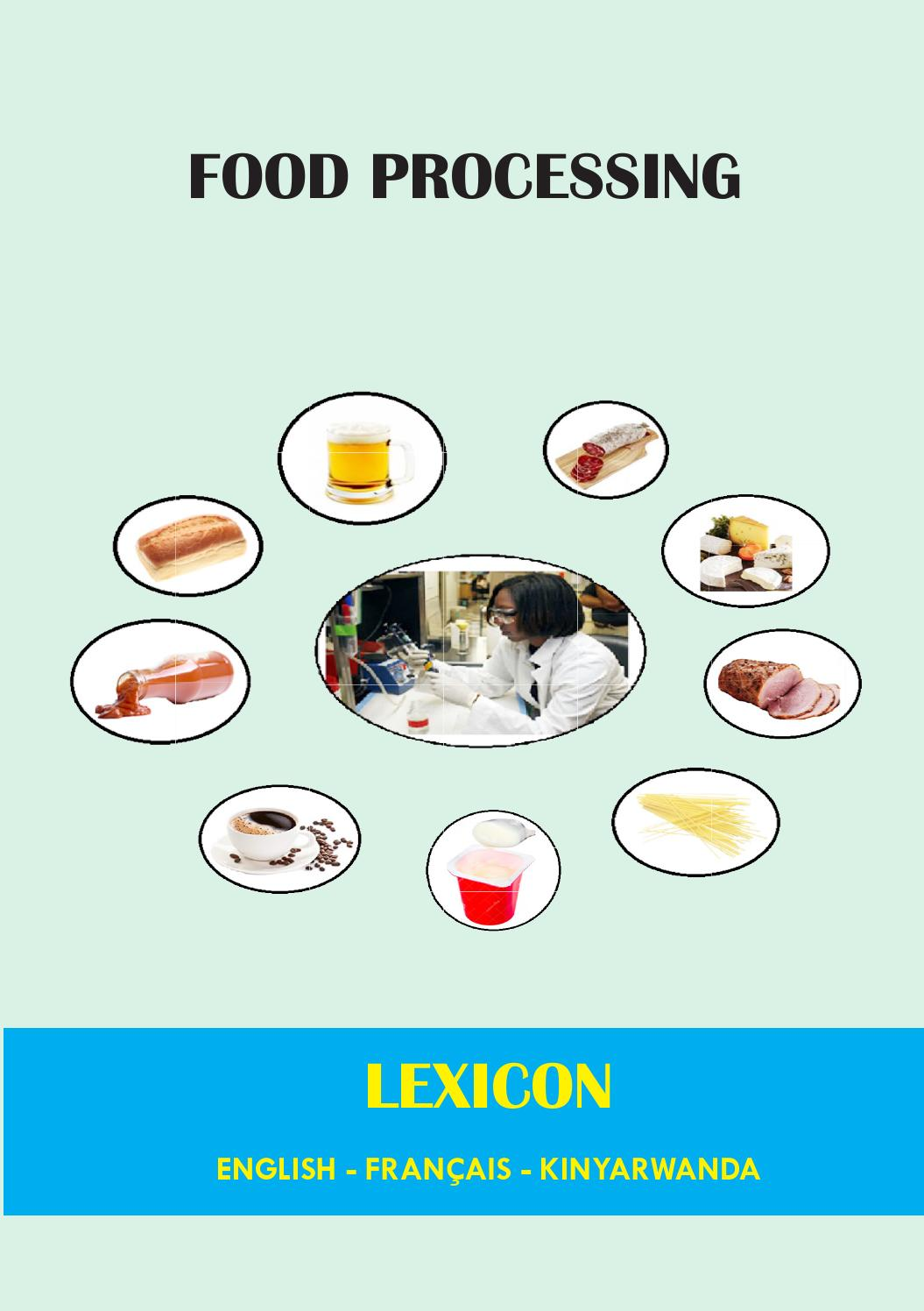 Feu De Cheminee En Anglais Food Processing Lexicon English French Kinyarwanda