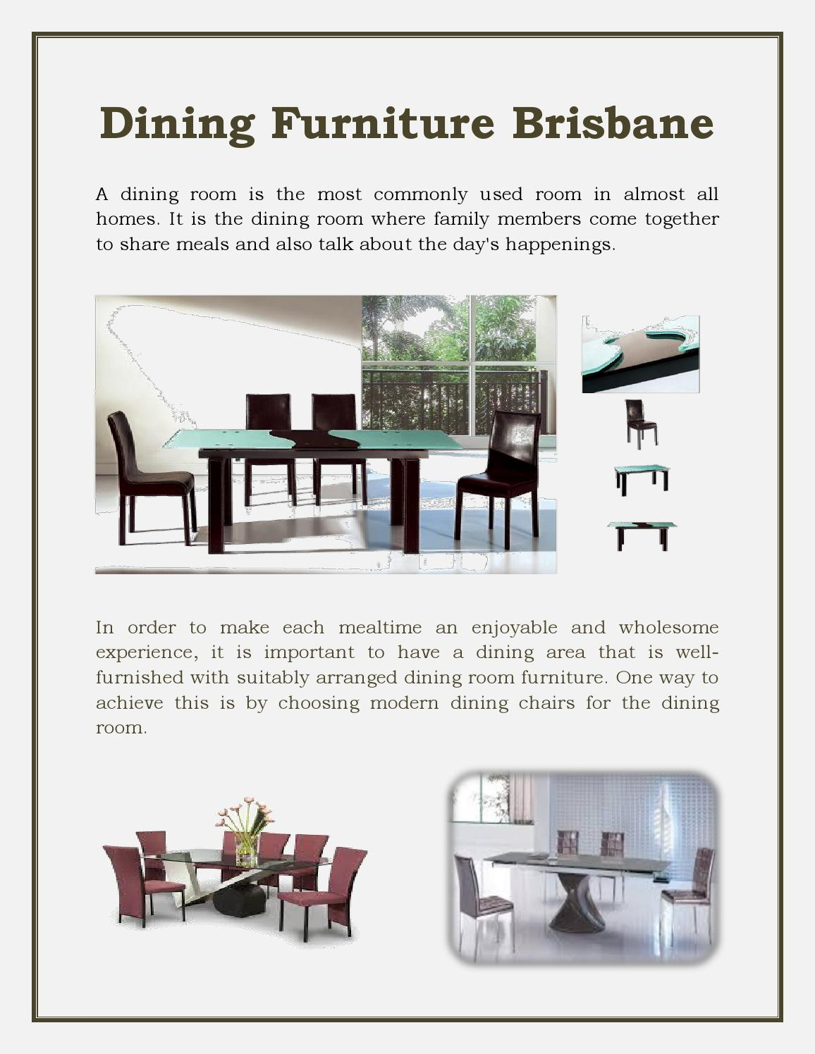 Dining Room Chairs Brisbane Dining Furniture Brisbane By Interior Secrets Issuu