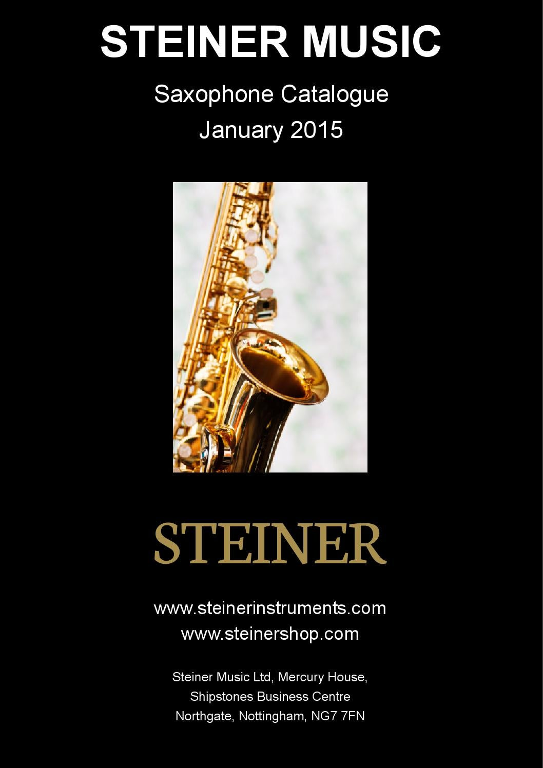 Steinershopping Steiner Saxophone Catalogue 2015 By Sopros Brasil Issuu
