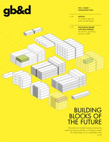 gbd Issue 1 July/August 2010 by Green Building  Design - issuu