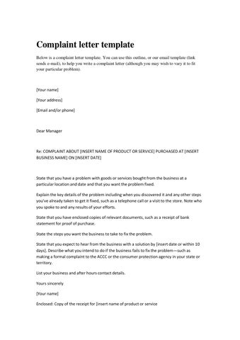 Complaint letters by Kati Katerina - issuu - complaint email template
