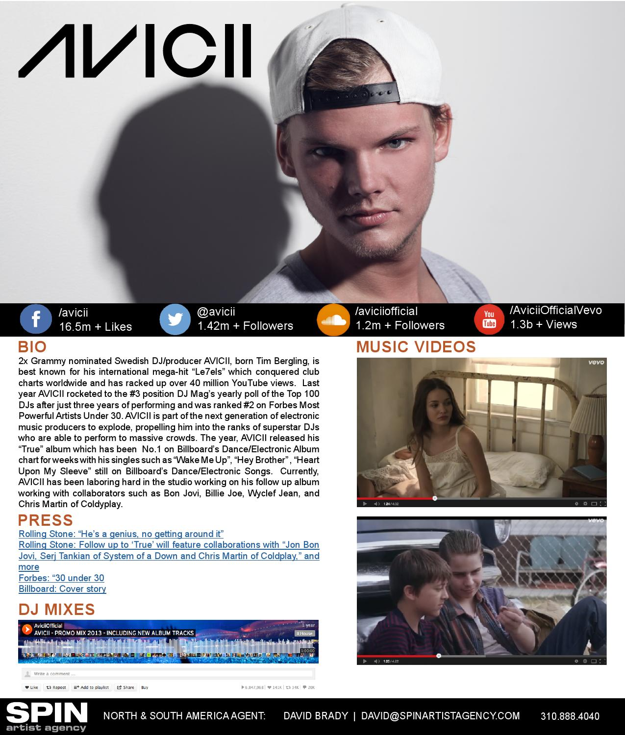 Press Kit For Artist Avicii Electronic Press Kit By Ethan Rex Issuu