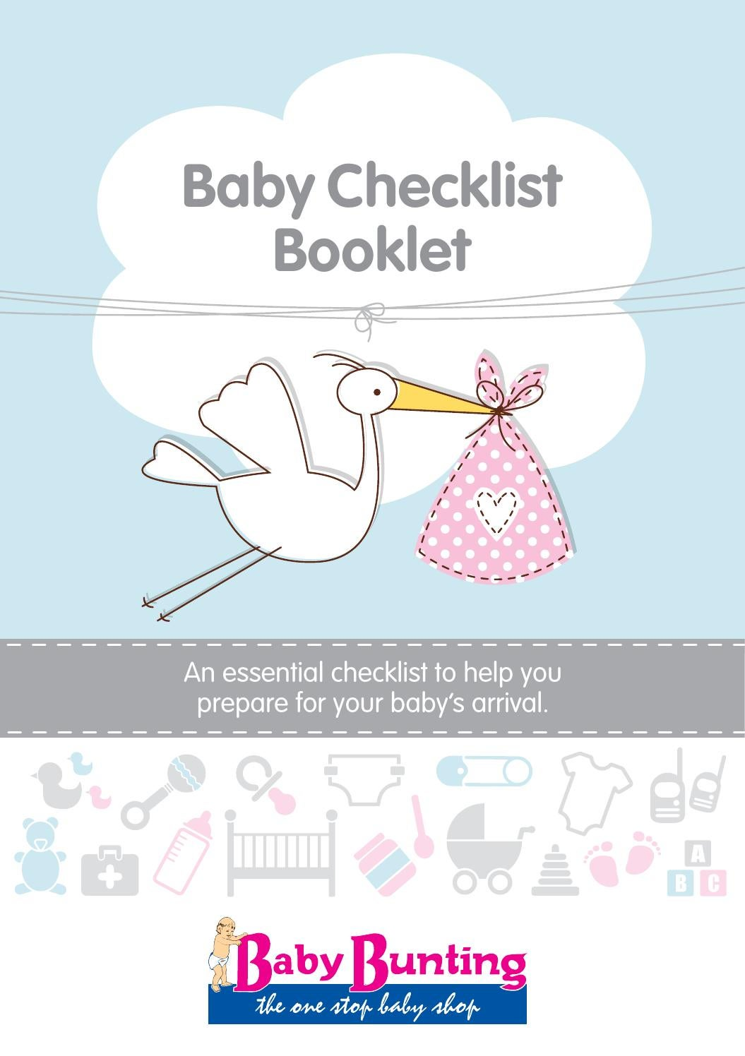 Baby Shops Helensvale Baby Checklist Booklet Baby Bunting 2015 By Grand Publishing Issuu