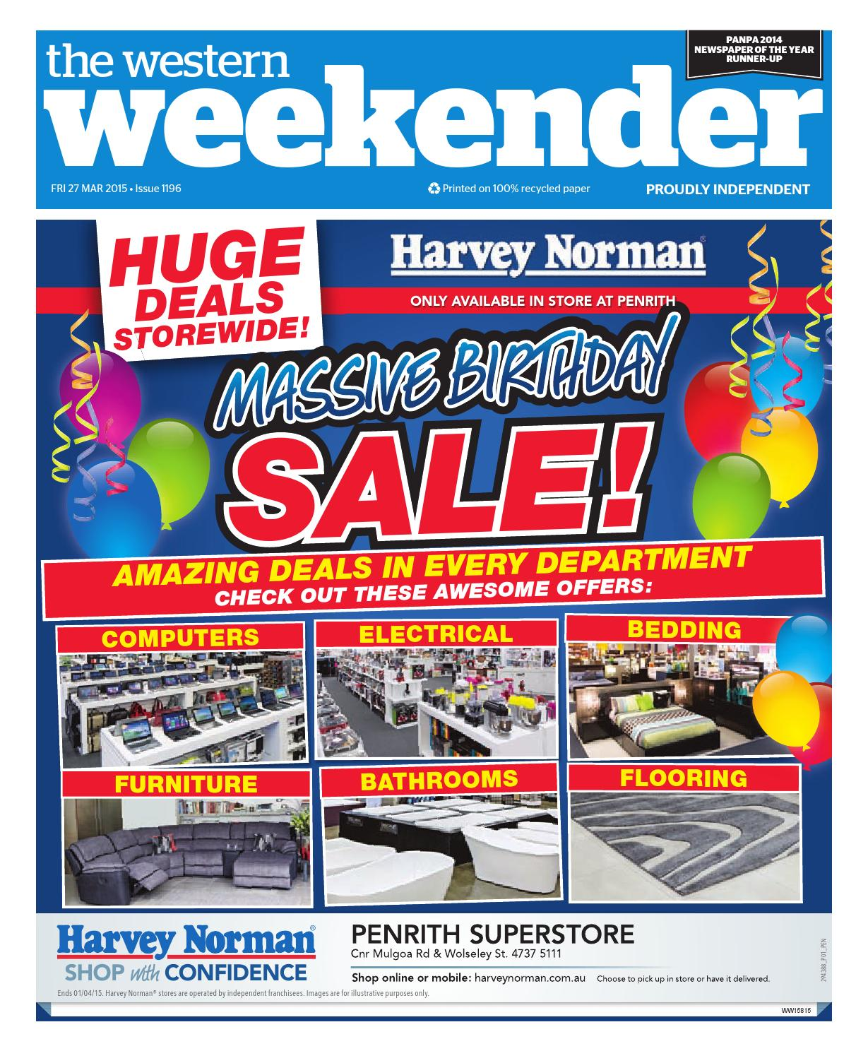 Furniture Stores Penrith Western Weekender March 27 By Western Sydney Publishing