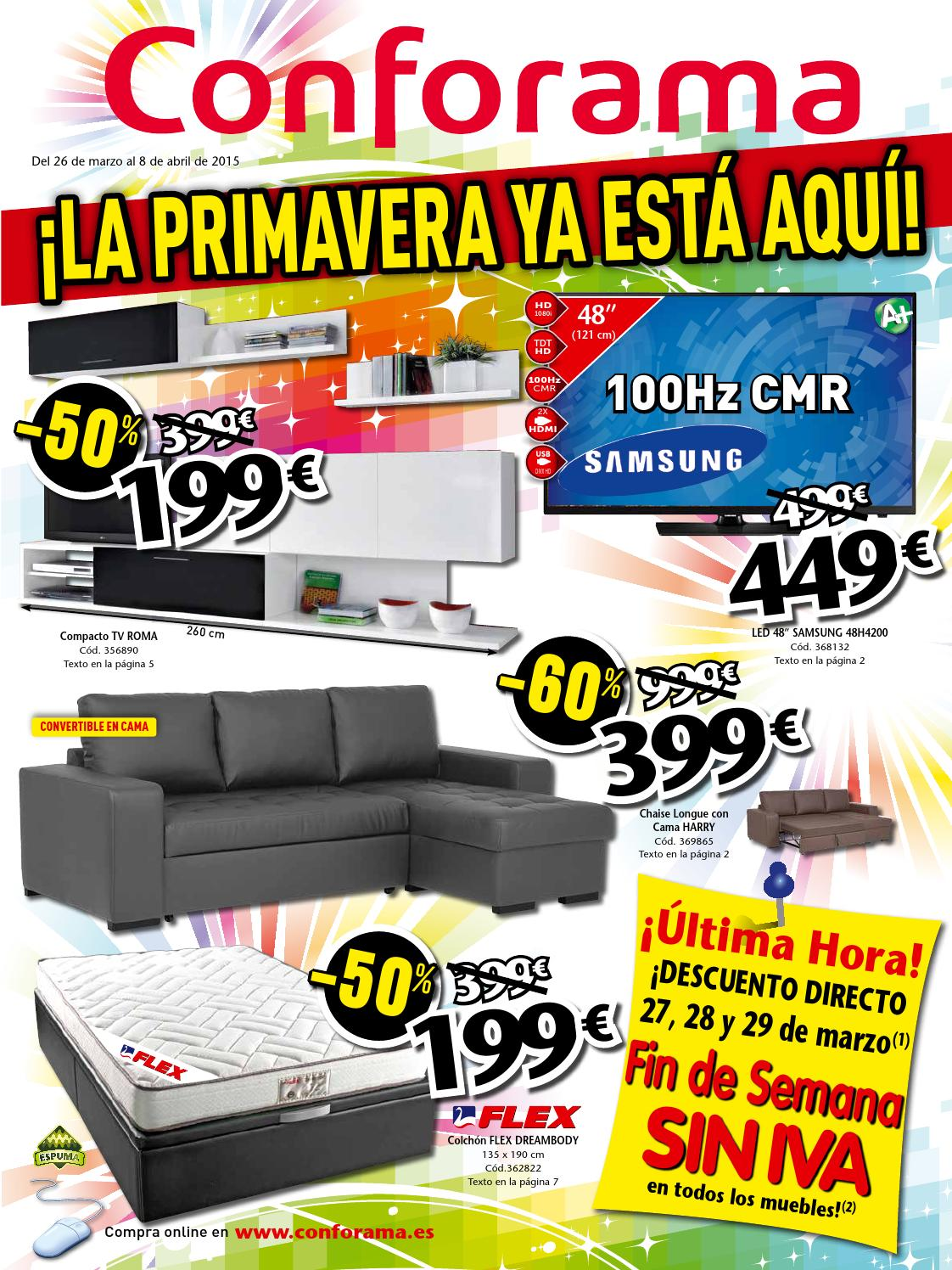 Sofa Conforama Harry Conforama Catalogo 26marzo 8abril2015 By