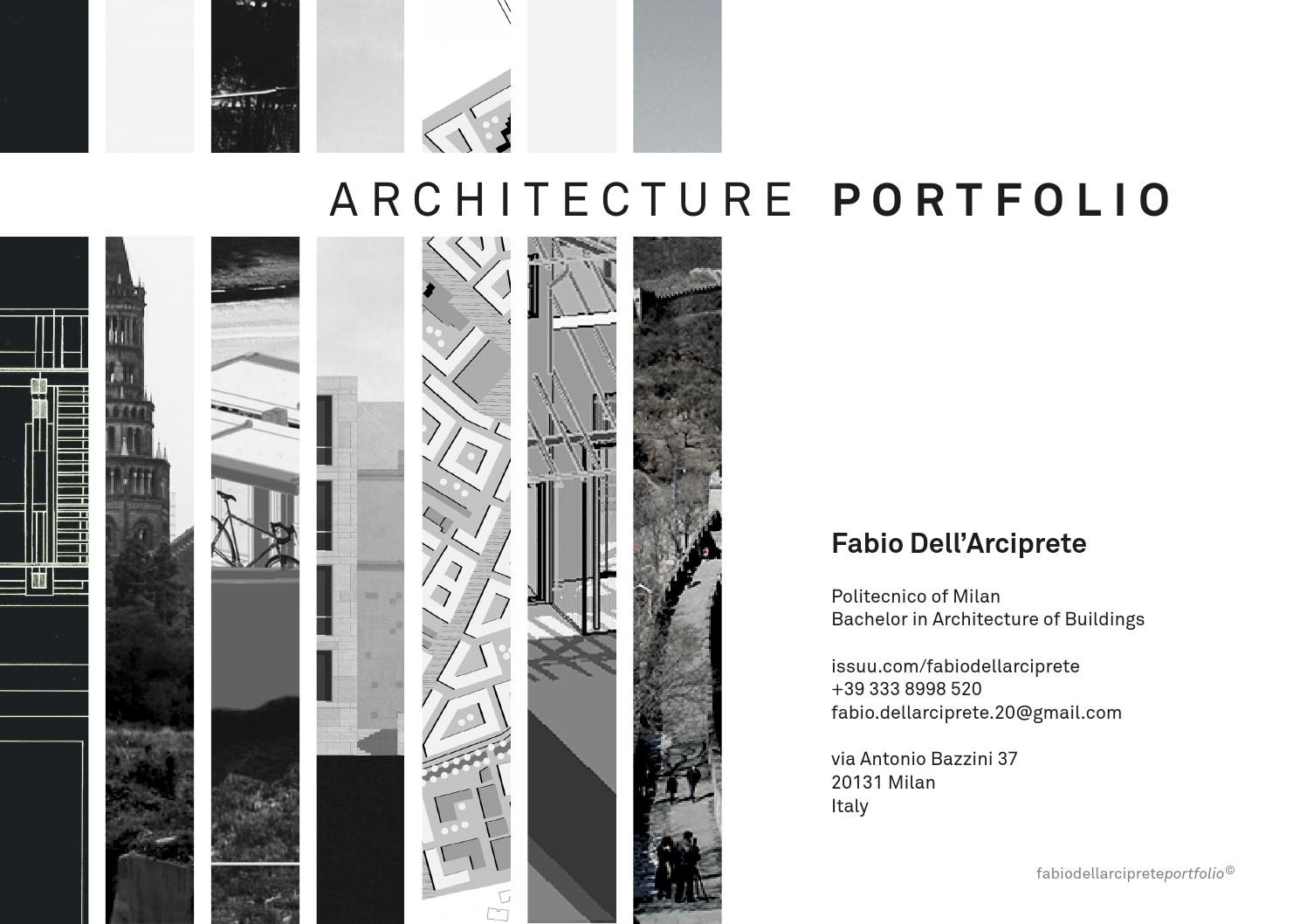 exemple book cv portfolio architecture