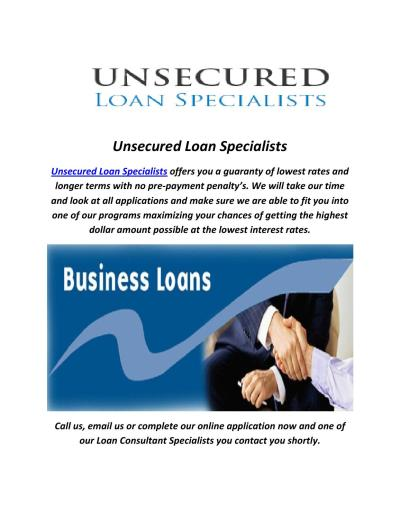 Unsecured Business Loans Specialists In Florida (866.854.7904) by Unsecured Loan Specialists - issuu